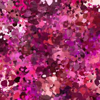 Tissu patchwork halos rose framboise - Origins
