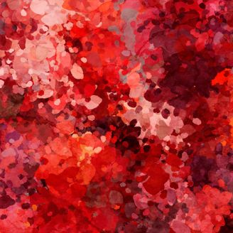 Tissu patchwork halos rouges - Origins