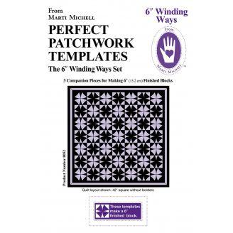 """Winding Ways bloc de 6"""" - Gabarits pour patchwork de Marti Michell"""