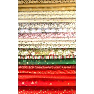 Charm pack de tissus de Noël