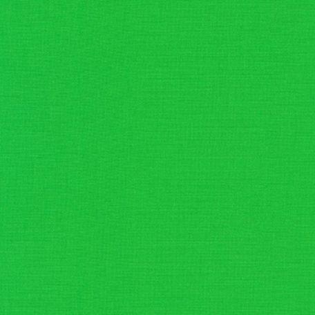 Tissu patchwork uni de Kona vert - Kiwi