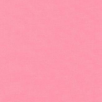 Tissu patchwork uni de Kona rose - Bubble gum