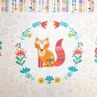 Panneau animaux en médaillons fleuris - Folk friends