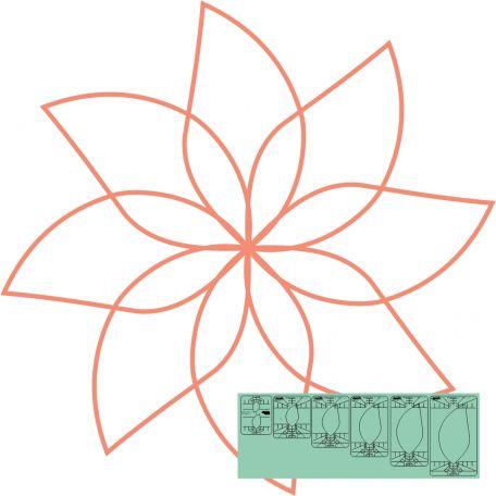 "Fleur n°3 (Spin e fex) 5,5"" - Règle à quilter Westalee"