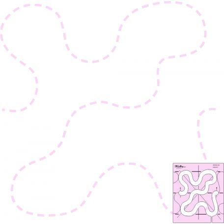 Vermicelle (Winding way) - Règle à quilter DM Quilting