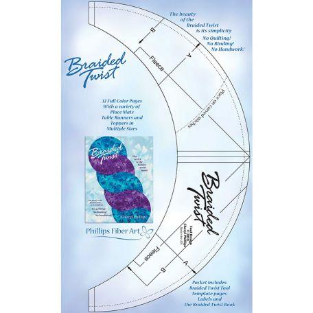 Braided Twist, règle pour quilt torsadé + livret (en anglais)