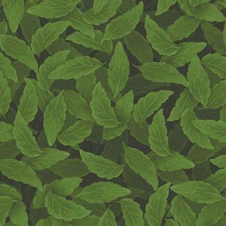 Tissu patchwork feuillage vert