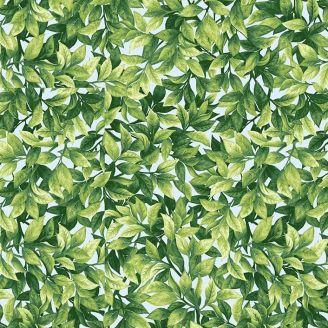 Tissu patchwork feuillage vert clair