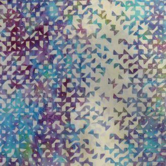 Tissu batik Mosaïque de triangles