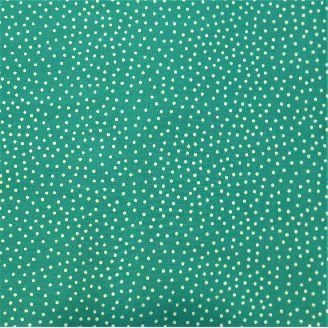 Tissu imprimé vert opaline et pois