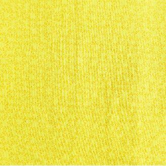 Tissu patchwork jaune vif et fleurs abstraites