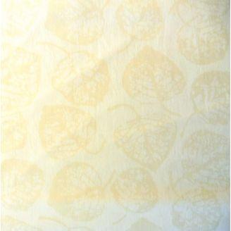 Tissu batik écru motif feuilles