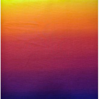 Tissu imprimé dégradé soleil couchant - Gelato