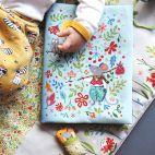 Protège-carnet de santé bleu - Kit de couture