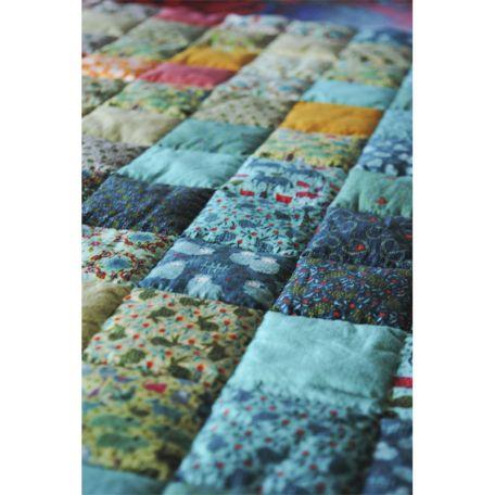 Tissu coton bio Patch folk d'Odile Bailloeul