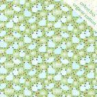 Tissu coton bio mini saute-mouton vert d'Odile Bailloeul