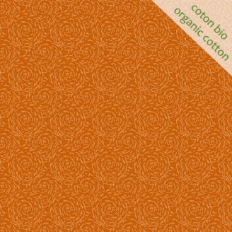 Tissu coton bio paille orange d'Odile Bailloeul