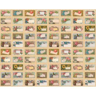 Tissu patchwork 40 étiquettes florales vintage - Flea Market Mix (44 x 110 cm)