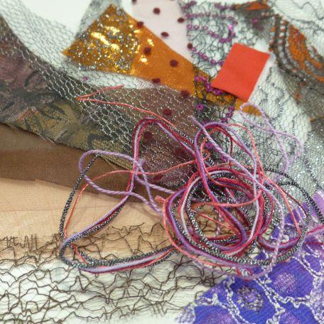 Automne, miniature textile d'Ina Georgeta Statescu en kit
