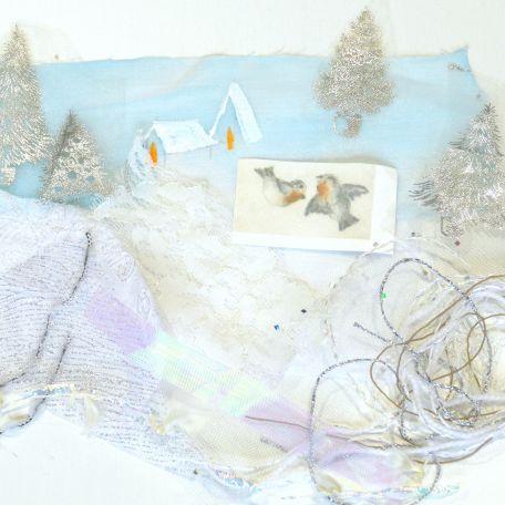 L'Hiver, miniature textile d'Ina Georgeta Statescu en kit