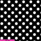 Tissu patchwork Tula Pink pois blancs fond noir TP118 - Linework