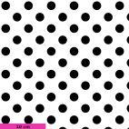Tissu patchwork Tula Pink pois noirs fond blanc TP118 - Linework