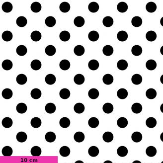 Tissu patchwork Tula Pink pois noirs fond blanc TP118 - Linework