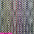 Tissu patchwork Tula Pink hexagones multico fond noir et blanc TP151 - Linework