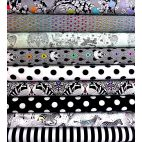 9 coupons de tissus collection Linework de Tula Pink