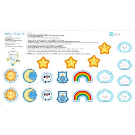 Tissu patchwork panneaux pour faire un mobile pour enfant- SEW AND GO