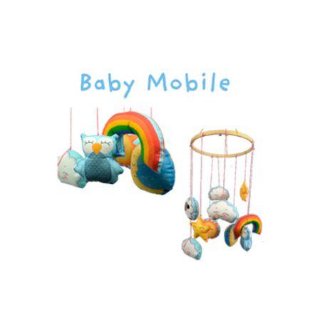 """Mobile pour enfant """"Sew and go"""" - kit de couture (panneau de 60 x 110 cm)"""
