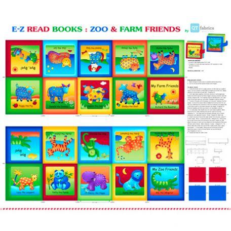 """Livre pour enfant """"Zoo & Farm friends"""" - kit de couture (panneau de 90 x 110 cm)"""