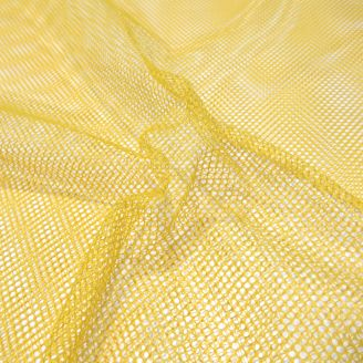 Tissu filet (mesh) Jaune Moutarde