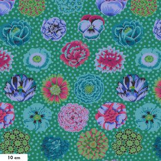 Tissu Kaffe Fassett grandes fleurs Big Blooms GP091