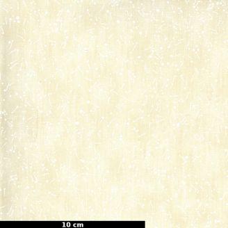 Tissu patchwork imprimé tâches de peinture fond crème - The Blues