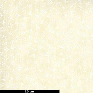 Tissu patchwork imprimé morpions fond crème - The Blues