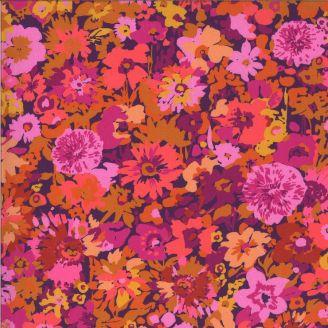 Tissu patchwork imprimé variétés de fleurs violettes - Kasada