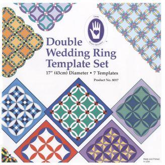 """Doubles anneaux de mariage, 17"""" de diamètre - Gabarits pour patchwork de Marti Michell"""