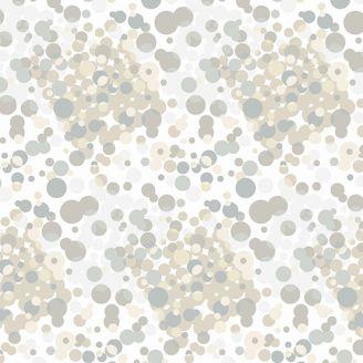 Tissu patchwork effervescence fond écru cendre - Stealth