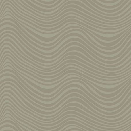 Tissu patchwork vagues beige kaki - Stealth