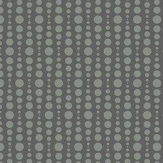 Tissu patchwork bulles gris anthracite - Stealth