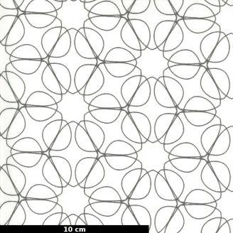 Tissu patchwork ellipses grises fond écru - Quotation de Zen Chic