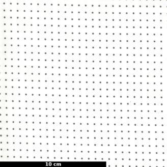 Tissu patchwork minis pois gris fond écru - Quotation de Zen Chic