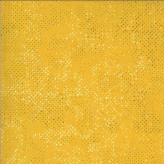 Tissu patchwork jaune moutarde moucheté - Quotation de Zen Chic