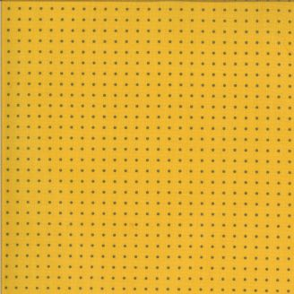 Tissu patchwork minis pois gris fond jaune moutarde - Quotation de Zen Chic