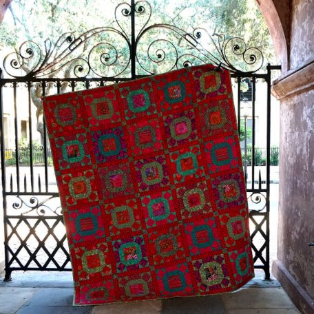 Quilt Along Gathering No Moss - Scarlet