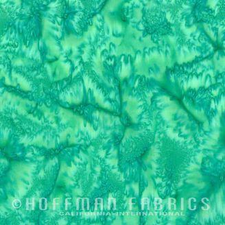 Tissu batik marbré vert jade