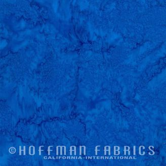 Tissu batik marbré bleu lapis lazuli