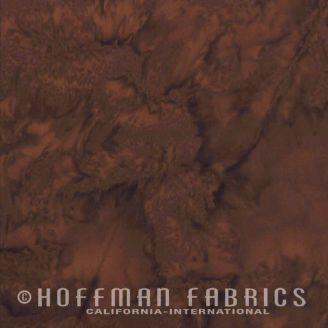 Tissu batik marbré brun havane