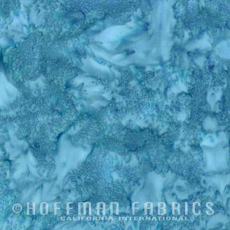 Tissu batik marbré bleu lac